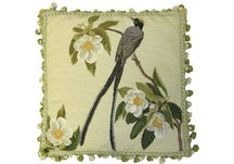 Swallowtail Bird and Needlepoint Pillow