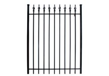 steel fence gate, steel gate, commercial steel gate, residential single gate, residential single ste