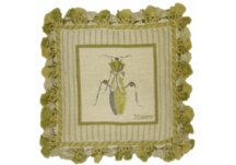 Grasshopper Needlepoint Pillow