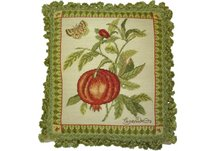 Pomegranate Needlepoint Pillow
