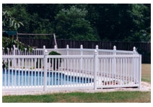 Vinyl Pool Fencing with 1.5