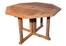 Teak Octagon Collapsible Table 48