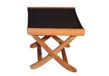 Foot stool for teak recliner sling black