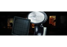 SOLAR SECURITY LIGHT - BLACK