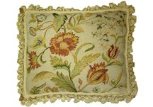 Spring Floral Needlepoint Pillow
