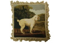 Poodle Needlepoint Pillow