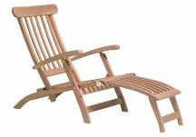 Teak Steamer chair, teak lounger, teak steamer