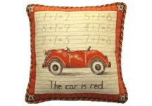 Vintage Car Needlepoint Pillow