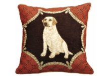 Yellow Lab Needlepoint Pillow