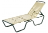 Outdoor patio and deck furniture, poolside loungers, Neptune Strap Chaise Lounge