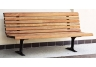park bench, wooden park bench