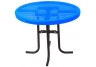 "Commercial Park 36"" Low Round Table- Portable, Diamond, Blue"