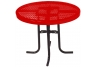 "Commercial Park 36"" Low Round Table- Portable, Diamond, Red"