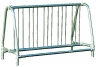 Commercial Park 5 Traditional Double Sided Bike Rack- Portable, Galvanized