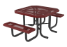 46 in. Square Infinity Portable Heavy Table - 2 Seat