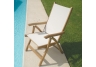 White Teak Florida Chair