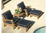 deep seating teak set