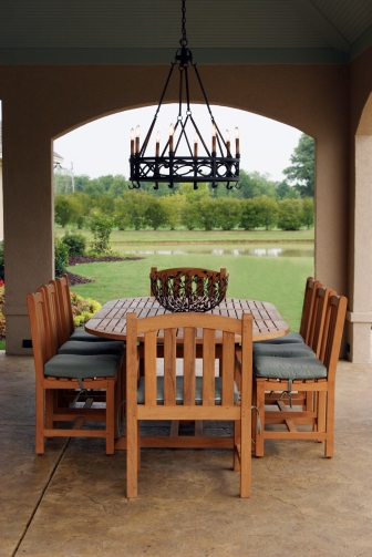 Teak Dining Set With Cushions