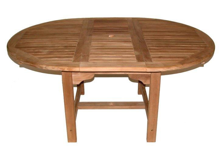 48 Quot Teak Round Extension Table Teak Furniture Outlet